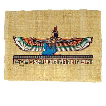 Winged Goddess Maat Papyrus