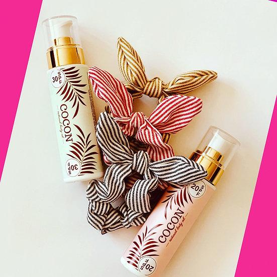 COCON олио за тен 2 бр / 200 мл + подарък ластик за коса