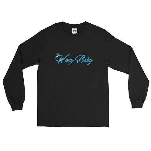 """Wavy Baby"" Men's Long Sleeve Shirt"