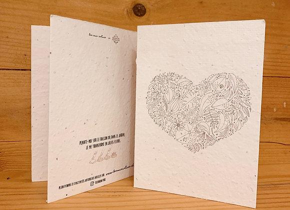 Carte engrainée coeur