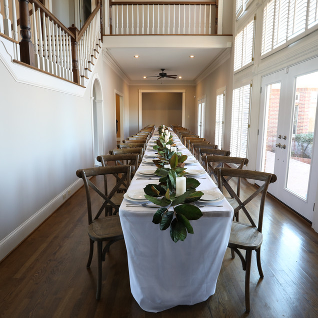 The lofty, light-filled Atrium is an ideal option for an indoor ceremony or banquet-style rehearsal dinner set up  with 50 of your closest friend and family.