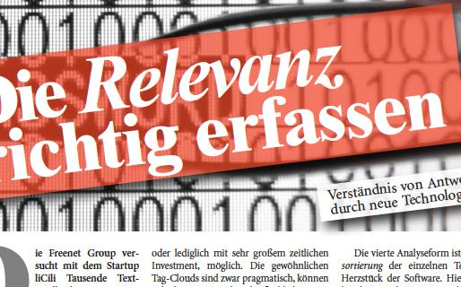Freenet und liCili im planung&analyse Magazin