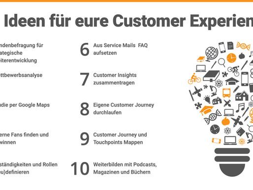 Was Sie jetzt für Ihre Customer Experience tun können – 10 Ideen