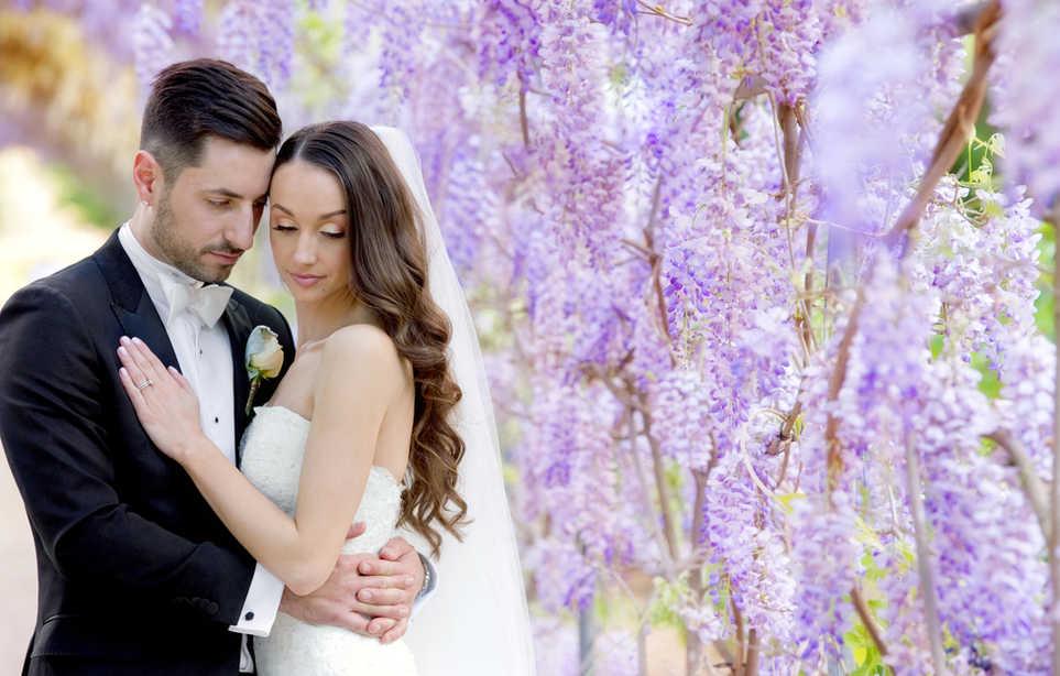 Adelaide wedding photography wisteria couple