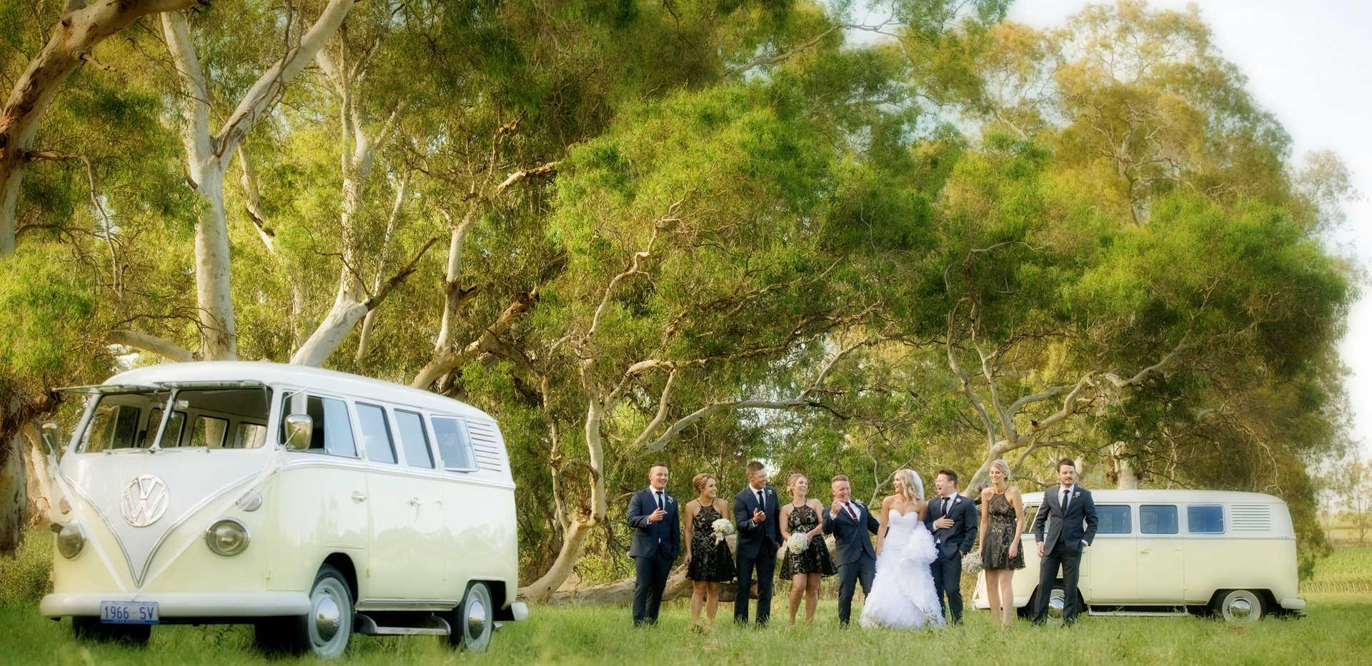 combie van vw van wedding photograph