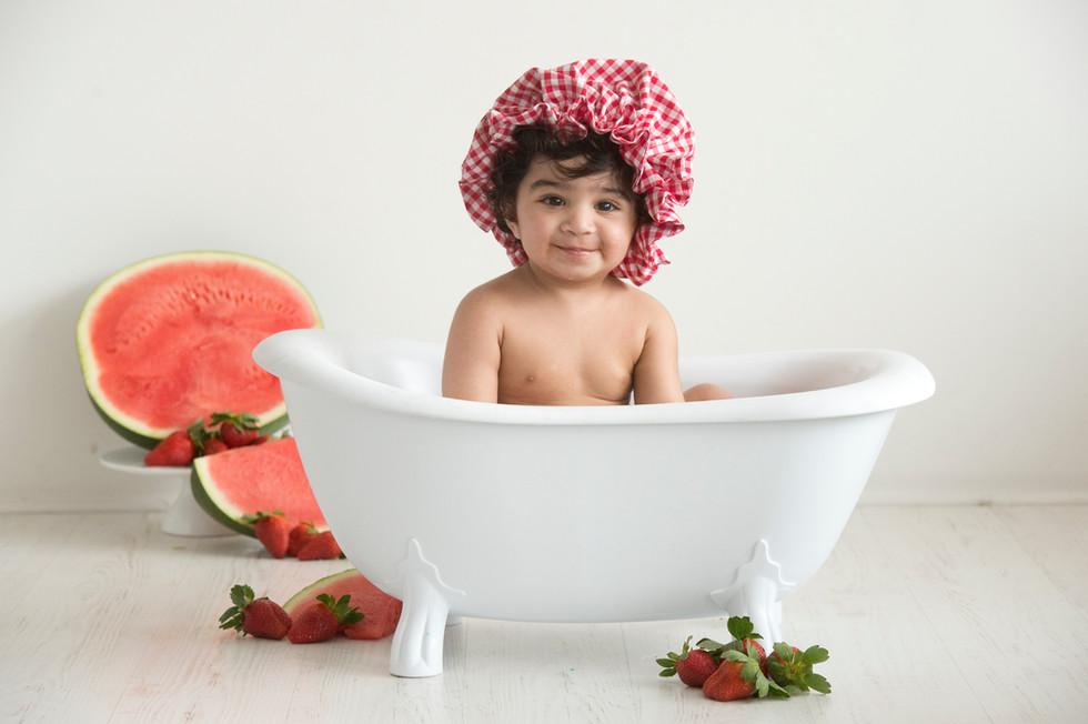 Cake smash bubble bath watermelon strawberry9193