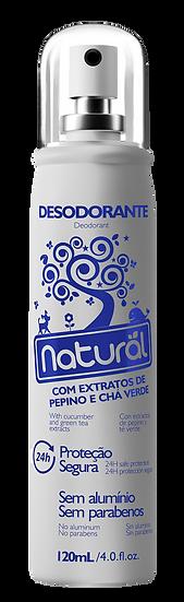 Desodorante Natural Pepino e Chá Verde 120ml