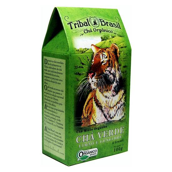 Chá Verde com Limão e Gengibre Orgânico - Granel