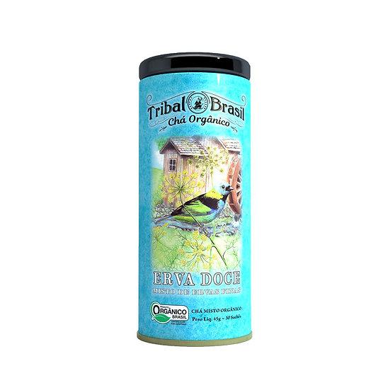 Chá Erva Doce com Ervas Finas Orgânico - Lata decorativa com 30 sachês