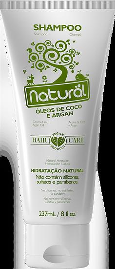 Shampoo Natural Óleo de Coco e Argan 237ml