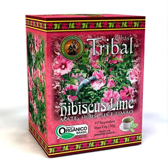 Chá Mate com Hibiscus e Lima Orgânico - Caixa com 15 sachês