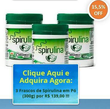 KIT 3 Spirulina Orgânica de 100g em pó