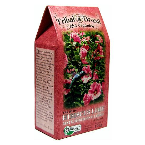 Chá Mate com Hibiscus e Lima Orgânico - Granel