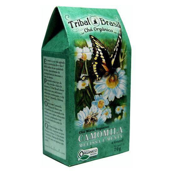 Chá Camomila com Melissa e Menta Orgânico - Granel