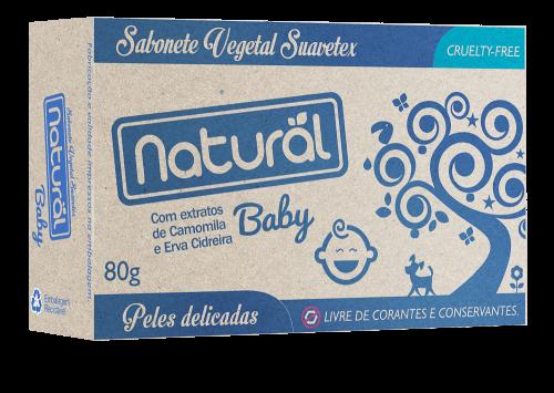 Sabonete Natural Baby Camomila e Erva Cidreira 80g