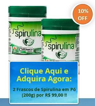KIT 2 Spirulina Orgânica de 100g em pó
