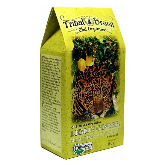 Chá Mate com Limão e Gengibre Orgânico - Granel