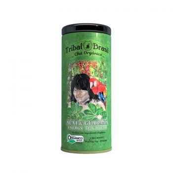 Chá Mate com Açaí & Guaraná Orgânico - Lata decorativa com 30 sachês