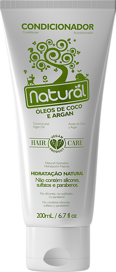 Condicionador Natural Óleo de Coco e Argan 200ml