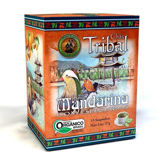 Chá Mate com Mandarina e Especiarias Orgânico - Caixa com 15 sachês