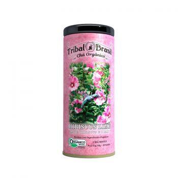 Chá Mate com Hibiscus e Lima Orgânico - Lata decorativa com 30 sachês