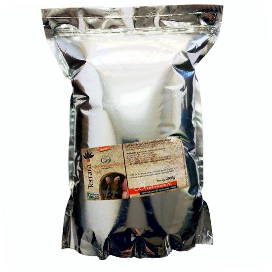Café Torrado em Grãos Orgânico Biodinâmico 2,5Kg