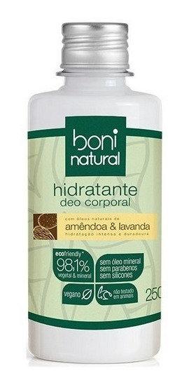Hidratante Natural Óleo de Amêndoa e Lavanda 500ml