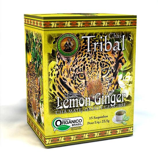 Chá Mate com Limão e Gengibre Orgânico - Caixa com 15 sachês