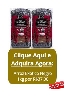KIT 2 Arroz Exótico Negro Orgânico Biodinâmico de 0,5kg