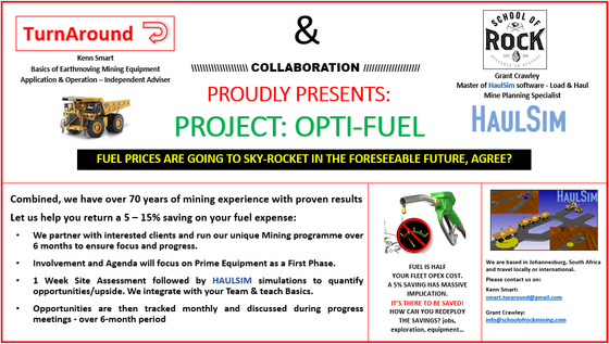 LAUNCHING PROJECT OPTI-FUEL!!
