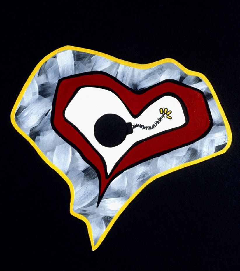 Heart bomb- (acrylic 37x51 cm)