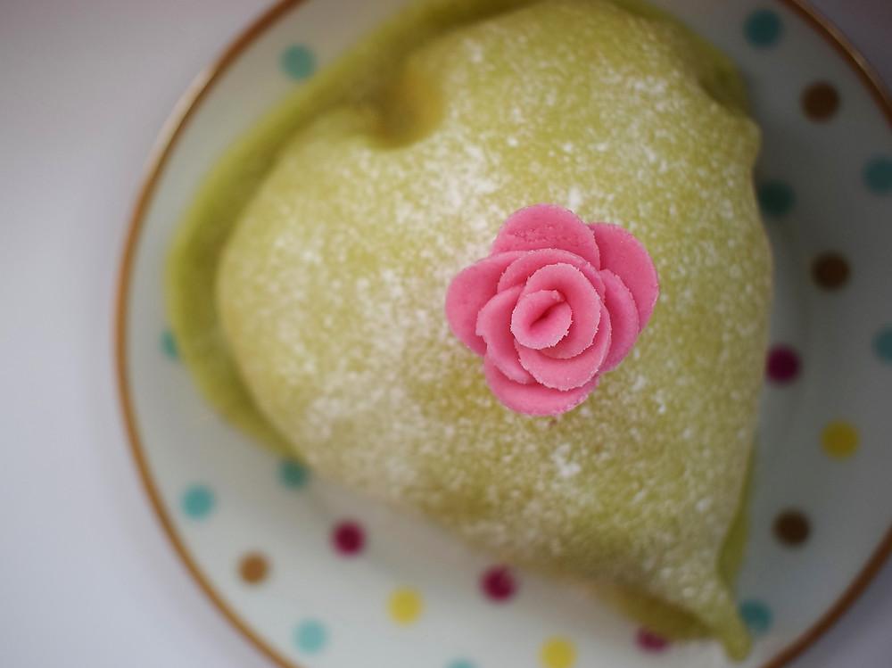 Apple, Rhubarb & Raspberry Princess Cake