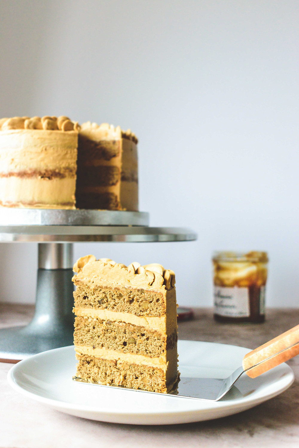 Coffee & Walnut Cake with Coffee-Caramel Buttercream (Gluten-Free)Coffee & Walnut Cake with Coffee-Caramel Buttercream (Gluten-Free)