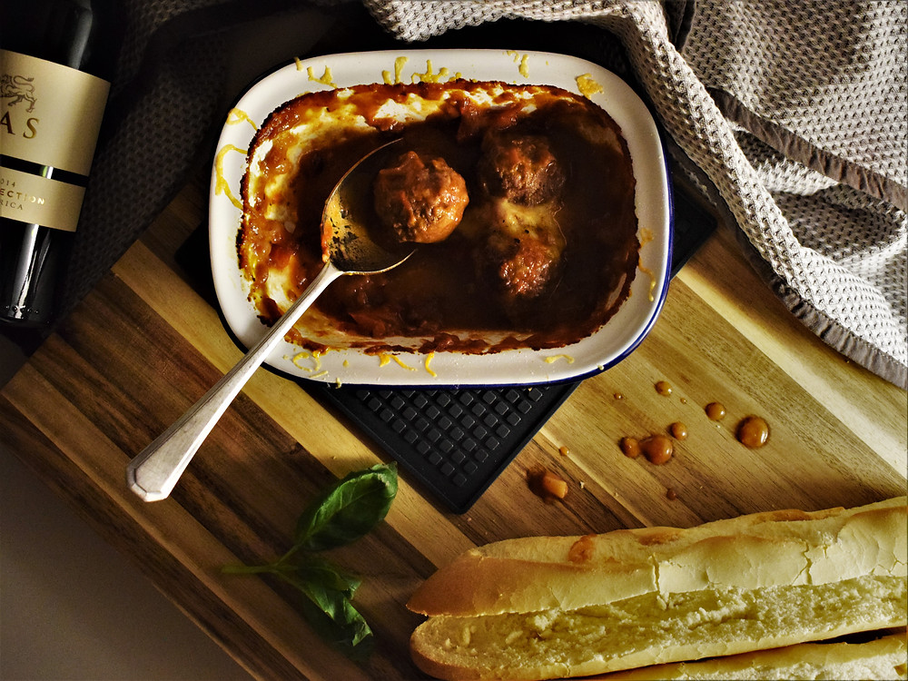 Easy Baked Meatball Subs