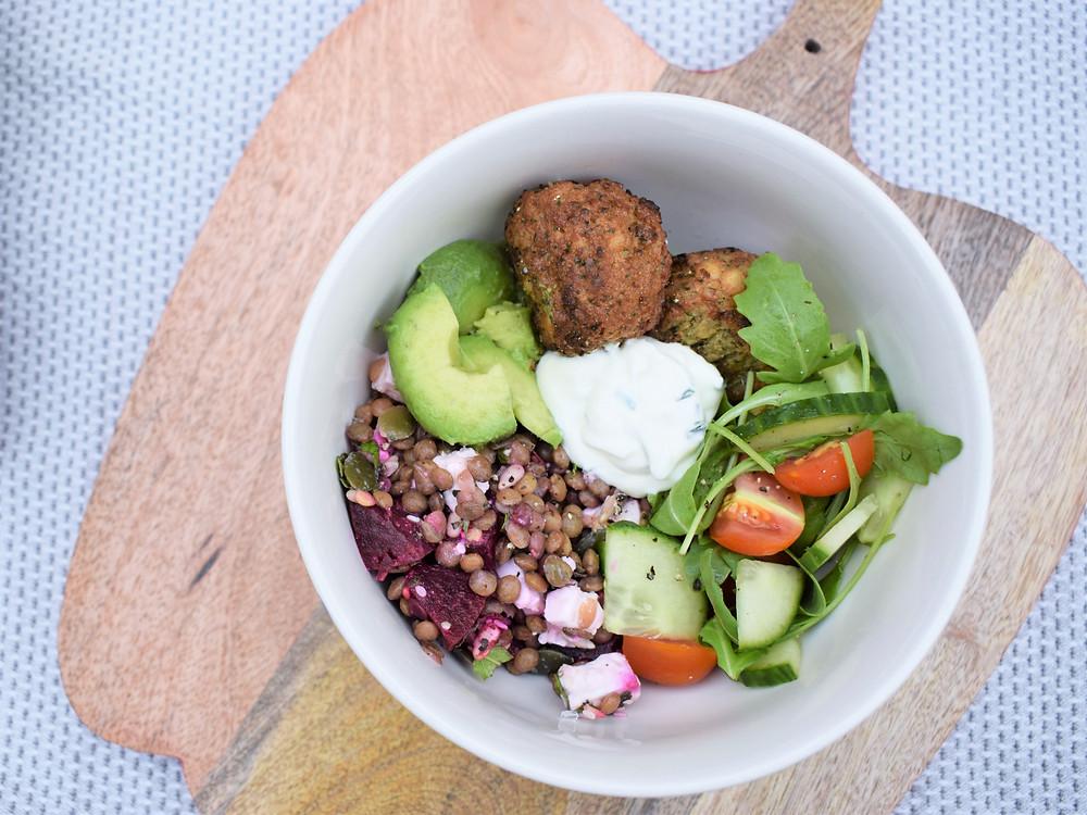Beetroot, Feta & Lentil Lunch Bowl