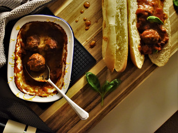 Easy Baked Meatball Subs (with Gluten-Free, Veggie & Vegan Suggestions)