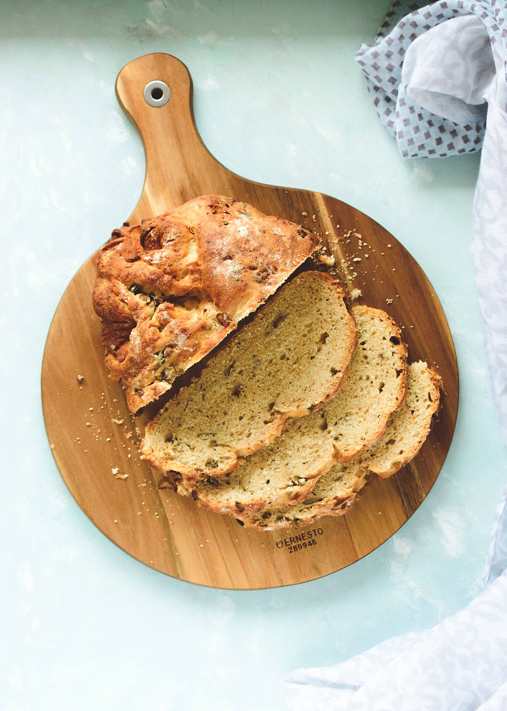 Green Olive & Parmesan Bread