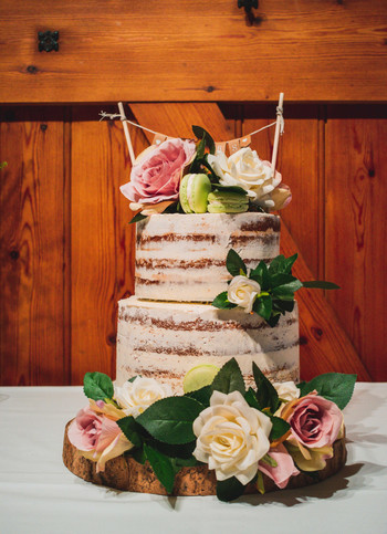 Boho Chic Two Tiered Wedding Cake