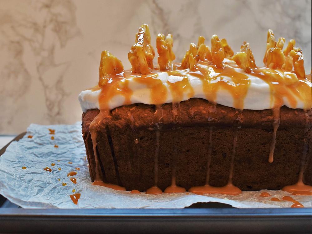 Vegan Banana Birthday Cake