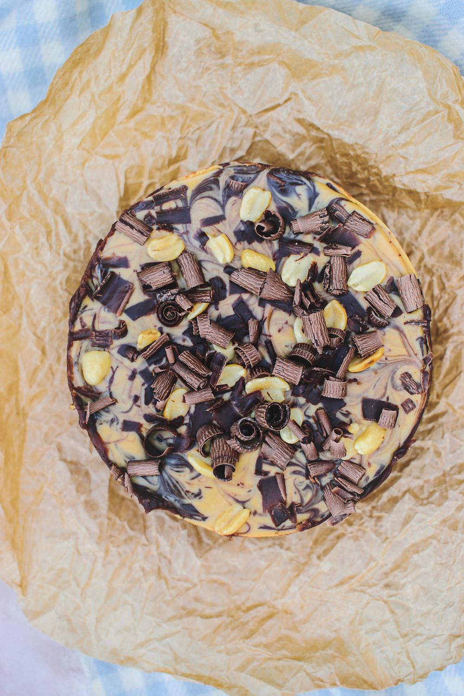 Small Batch Chocolate & Peanut Butter Cheesecake