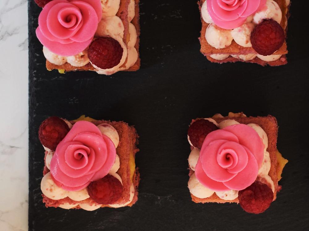 Raspberry & Lemon Curd Cream Cakes