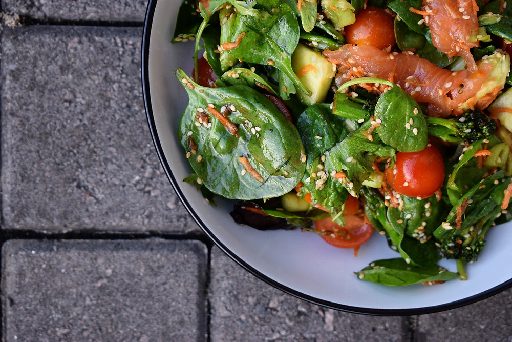 Smoked Salmon, Sesame & Hoisin Salad Bowls