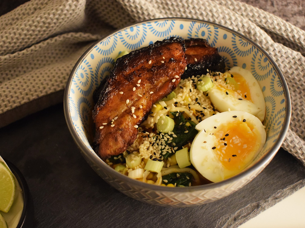 Five Spice Pork Belly Noodle Bowls