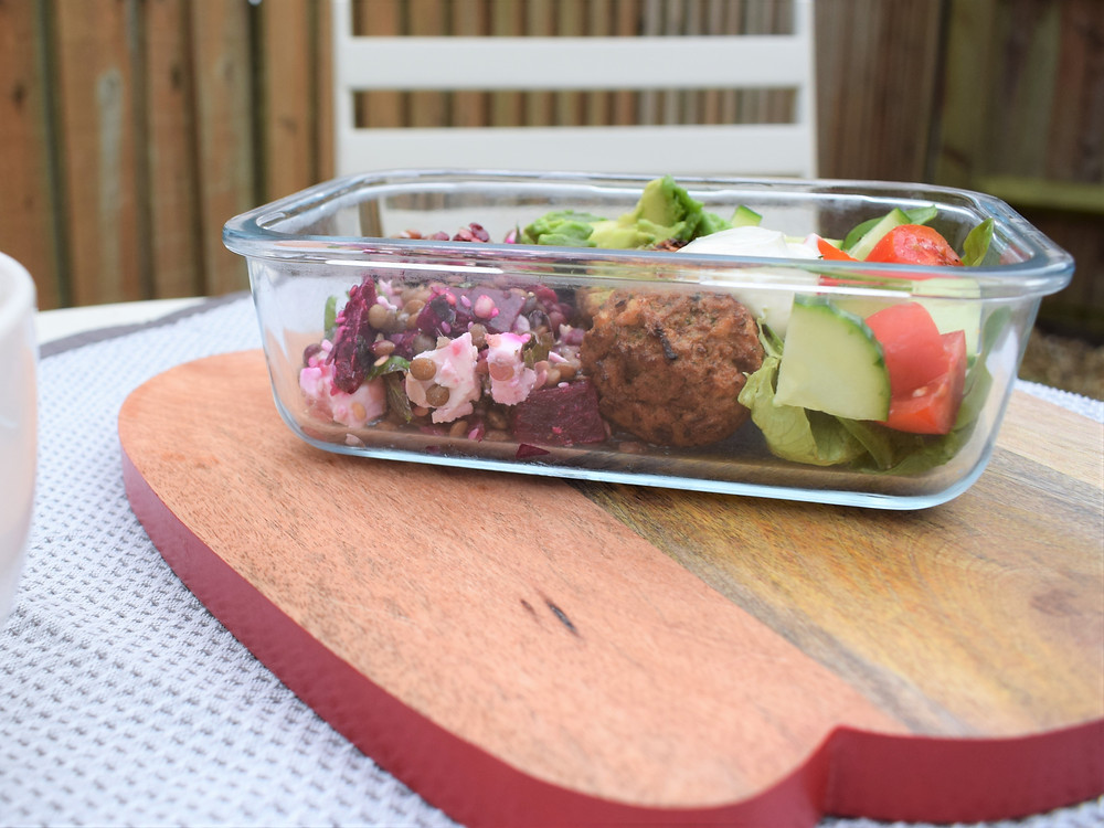 Beetroot, Feta & Lentil Lunch Box