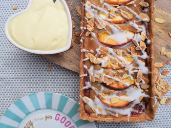 Strawberry & Peach Frangipane Tart