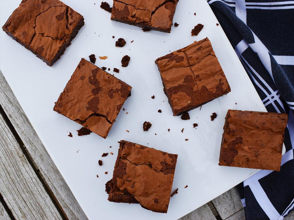Gooey Toffee Brownies