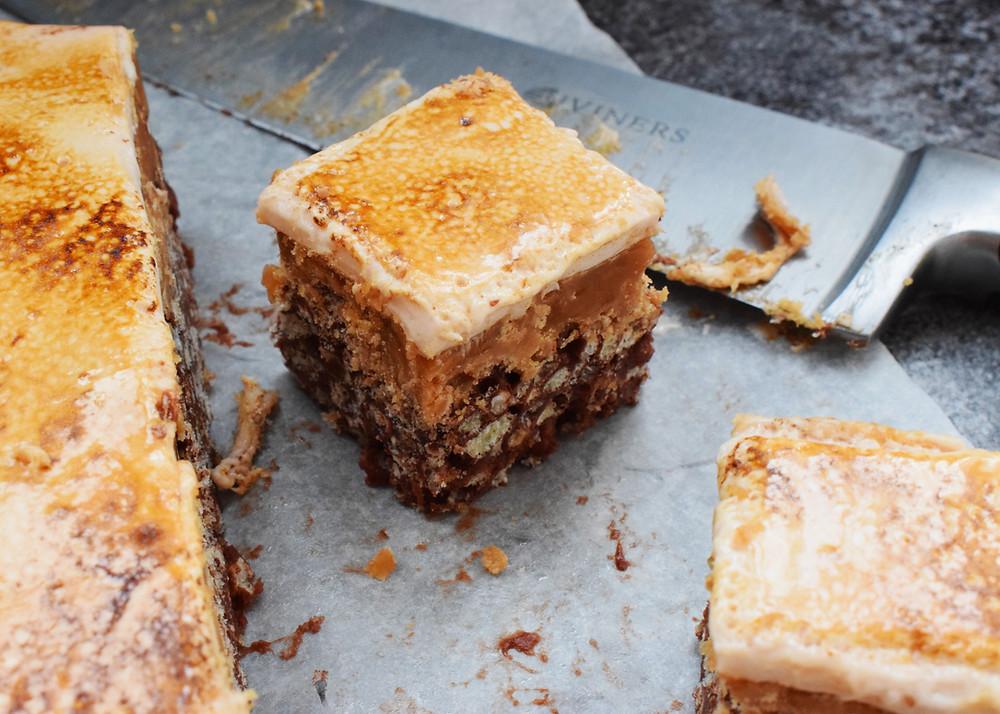 Crispy Caramel Marshmallow Bites