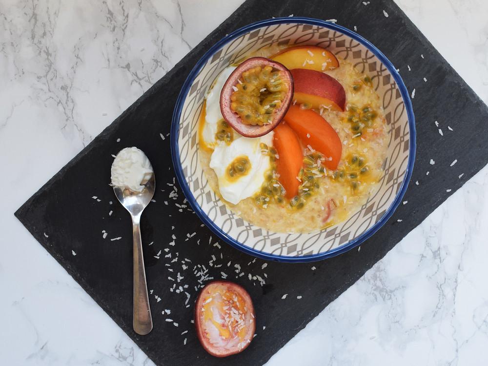 Peach, Apricot & Passion Fruit Porridge