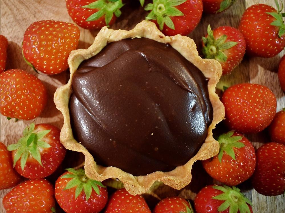 Dark Chocolate & Ginger Tartlet