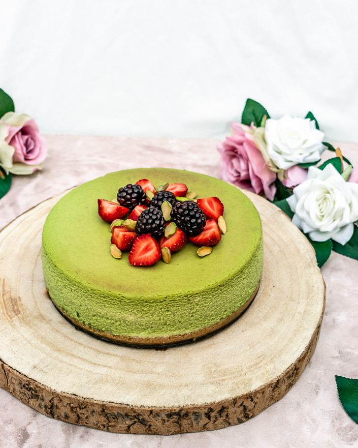Pistachio & White Chocolate Cheesecake